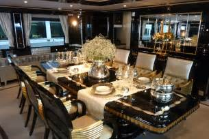 Luxurious Dining Tables Mondo Marine Yacht Again Luxurious Dining Table Photo Alessio Baleri Luxury