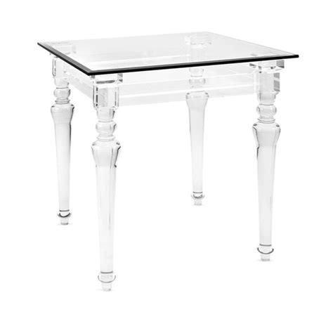 clear acrylic side table marmont modern acrylic side table shades of light
