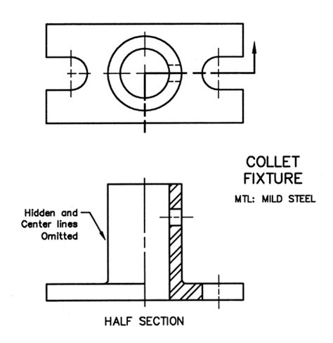 section line in drawing me210 engineering design graphics