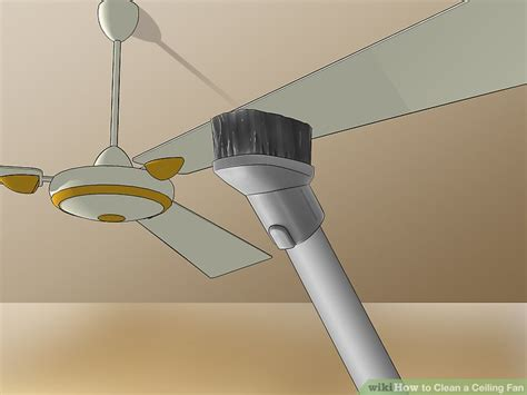 how to clean high ceiling fans 3 ways to clean a ceiling fan wikihow