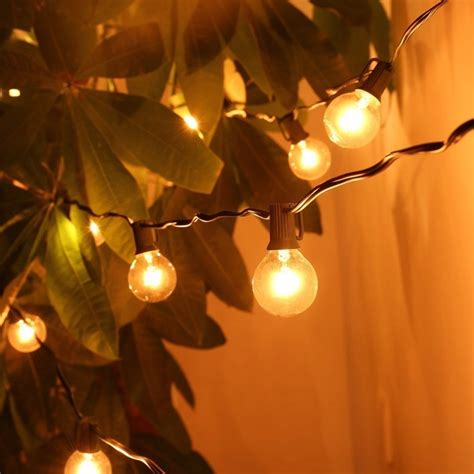Outdoor String Lights Wholesale Wholesale Patio Lights G40 Globe String Light Warm White 25clear Vintage Bulbs