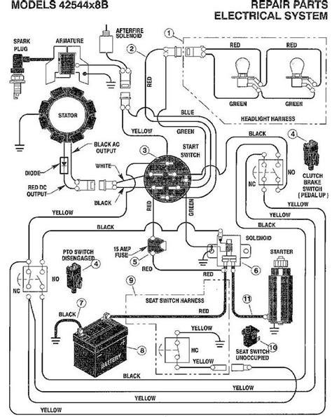 murray mower wiring diagram murray lawn mower wiring diagram fuse box and