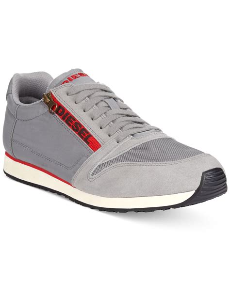 s sneakers diesel black jake slocker s sneakers in gray for lyst