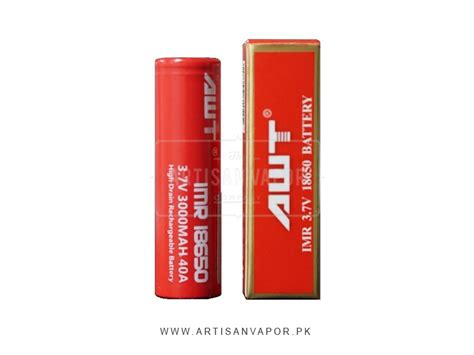 Battery Vaporizer Awt 50a Authentic awt 18650 40a 3000mah battery artisan vapor pk