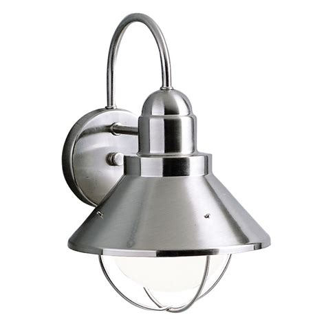 Brushed Nickel Outdoor Light Fixtures Kichler Outdoor Wall Light In Brushed Nickel Finish 9023ni Destination Lighting
