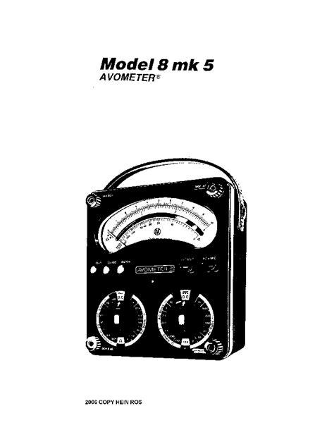 Avo Meter Analog avo avometer model8 mk5 analog mm sm service manual schematics eeprom repair info