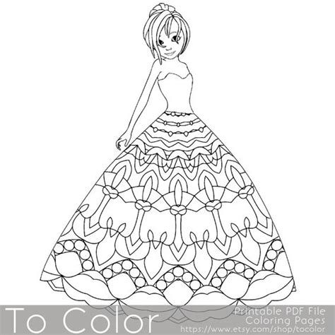 coloring pages of pretty dresses pinterest the world s catalog of ideas