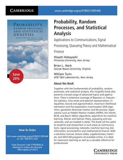 probability on graphs random processes on graphs and lattices institute of mathematical statistics textbooks books probability random processes and statistical analysis