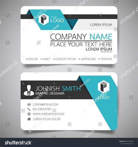 simple folded business card templates blue fold modern creative business card stock vector