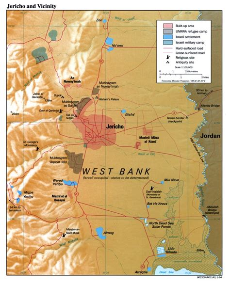 is west bank part of israel jericho