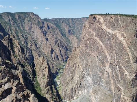 painted wall black canyon black canyon of the gunnison