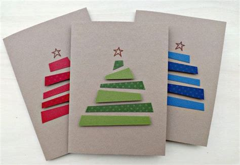 christmas card set greeting cards handmade card with