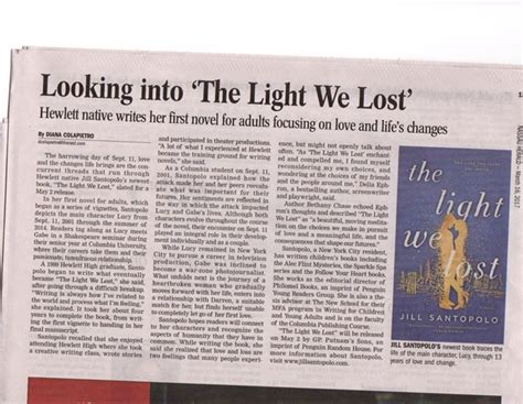 the light we lost news santopolo author