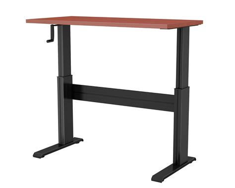 crank sit stand desk newheights vuelta manual hand crank sit to stand desk
