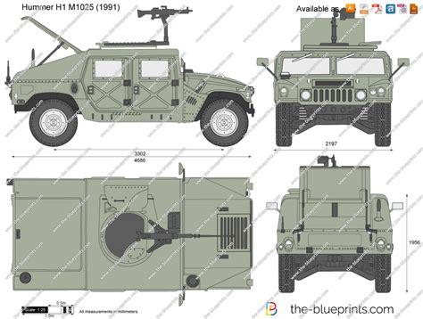 humvee blueprints the blueprints com vector drawing hummer h1 m1025