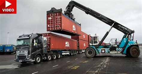 volvos fh truck   shift system haul  tons