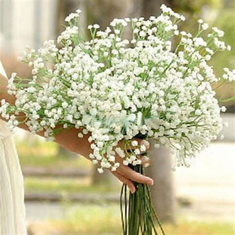 Wholesale Country Home Decor by Artificial Babys Breath Gypsophila Bouquet White Home