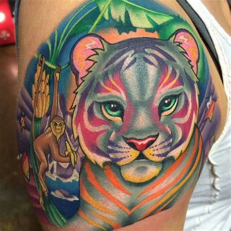 lisa frank tattoo a peek at a frank artwork styled sleeve i started the
