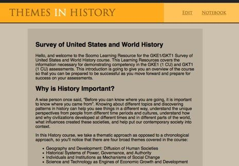 Theme Definition History | new history features soomo learning