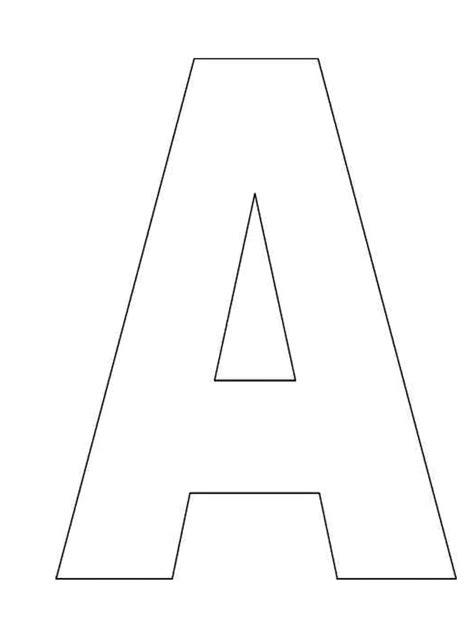 free letter templates best 25 printable alphabet ideas on