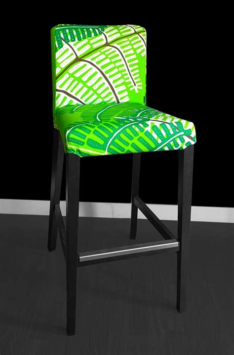 Bar Chair Covers by Sale Pair Of Henriksdal Bar Stool Chair Covers Green Fern