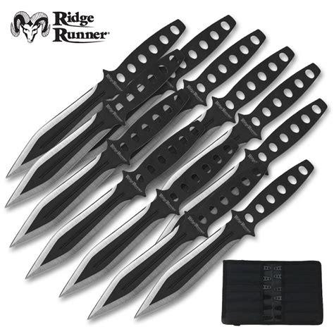 12 throwing knives ridge runner 12 tornado throwing knives set