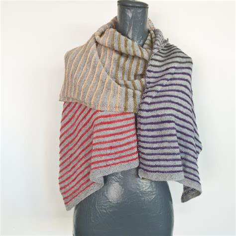 knitting k1tbl pin stripe scarf knit pattern cowgirlblues