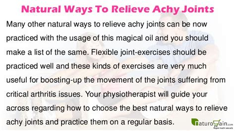 7 Ways To Relieve by Ways To Relieve Achy Joints And Arthritis Stiffness