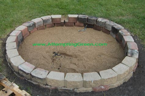 How To Build A Firepit Casual Cottage How To Build Backyard Pit