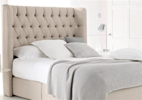 Padded Fabric Headboard knightsbridge upholstered divan base and headboard king size beds bed sizes