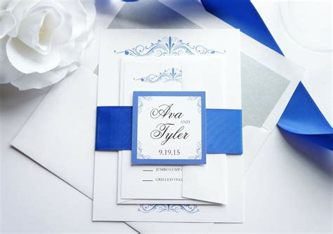 royal blue wedding invitation sample set ebay