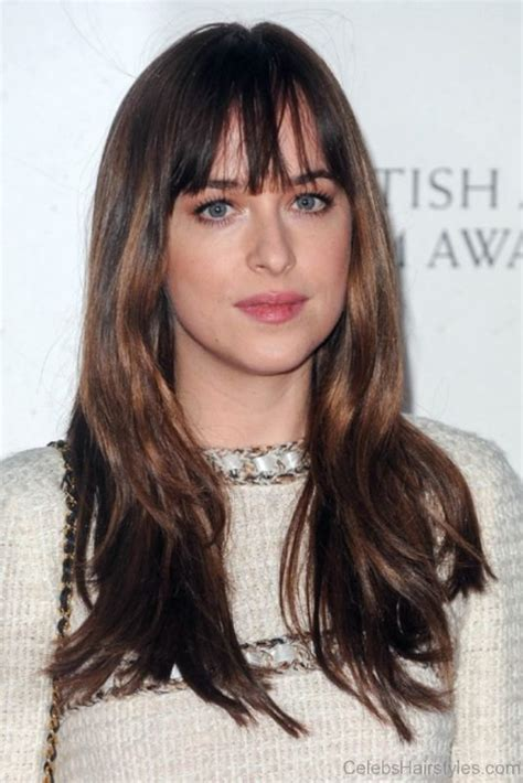 dakota johnson bangs are called what 40 classic hairstyles of dakota johnson