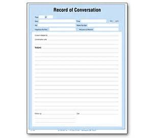 record of telephone conversation template documentation forms to record conversations pictures to