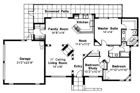 Mediterranean House Floor Plans by Mediterranean House Plans Carrizo 11 010 Associated