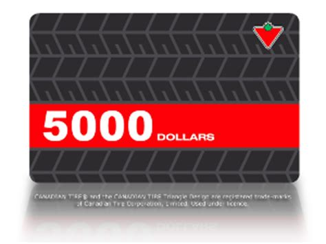 Canadian Tire E Gift Card - contest win a canadian tire gift card worth 5000 your contests canada