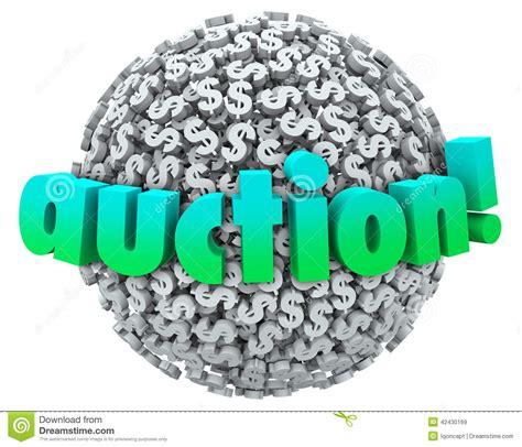 Dream Interpretation Winning Money - auction money dollar signs symbols ball bid item buyer seller stock illustration