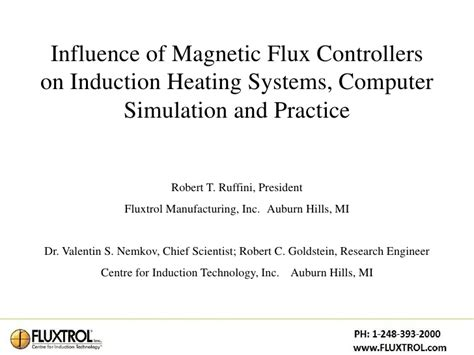 magnetic induction units asm 2001 influence of magnetic flux controllers on induction heating
