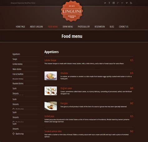 30 wordpress restaurant menu templates want to get famous 30 restaurant menu templates want to impress your