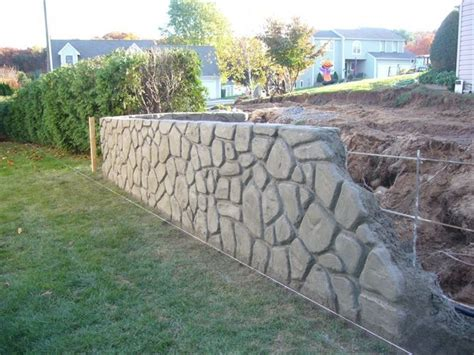 garden decor from repurposed materials concrete retaining walls pictures steely can landscape