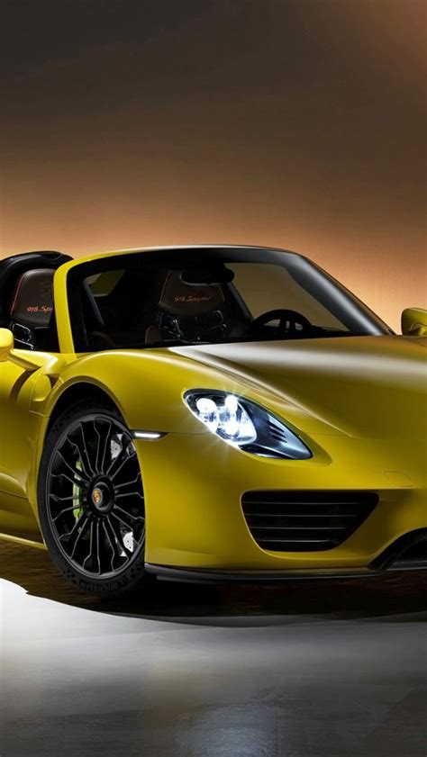 porsche spyder yellow 2014 porsche 918 spyder yellow wallpaper free iphone