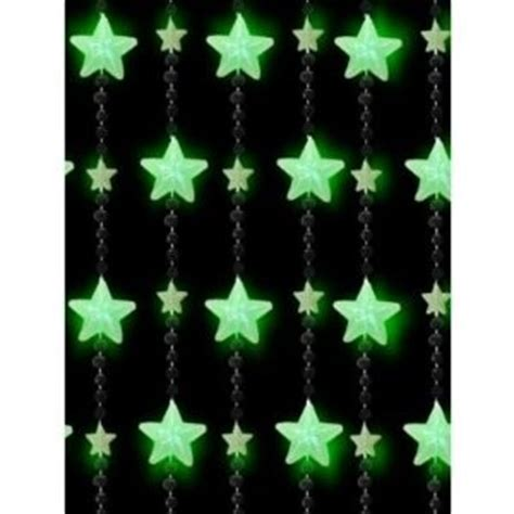 glow in the dark curtains glow in the dark beaded curtain green stars ebay