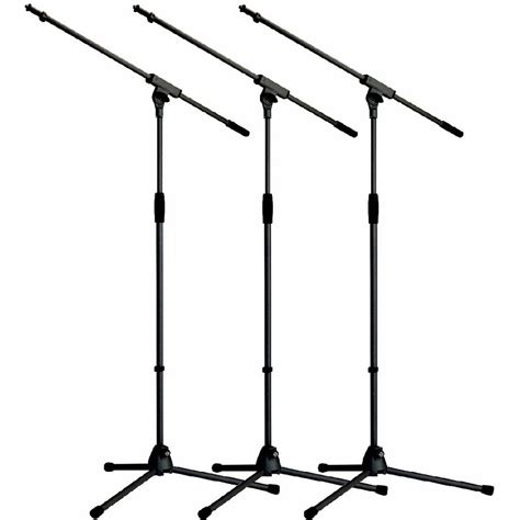 Mic Stand L by K M 21020 3 Pack Mic Stand Boom Black Mic Stands