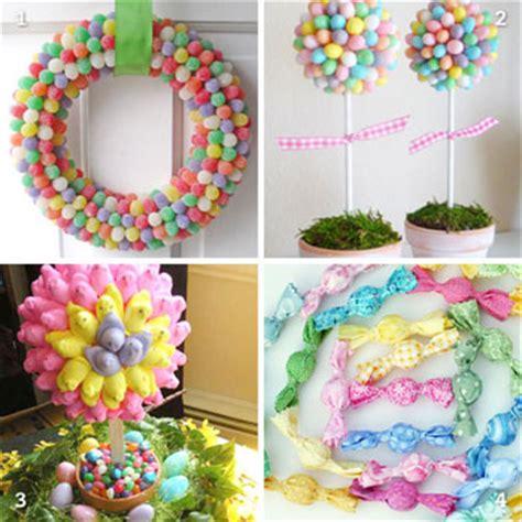 diy spring decorating ideas diy easter candy decorations chickabug
