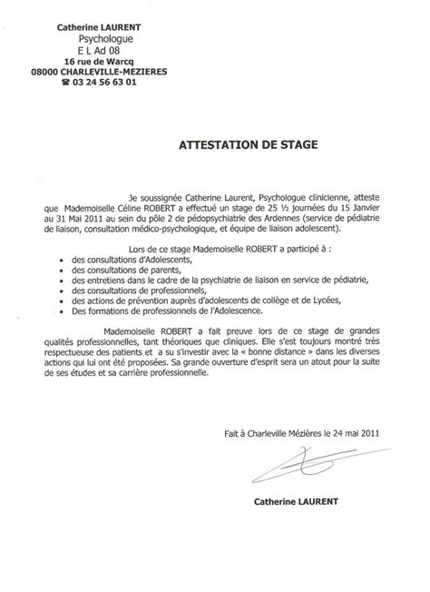 Attestation De Stage Lettre Type Lettre De Demande De Stage Notarial Application Letter