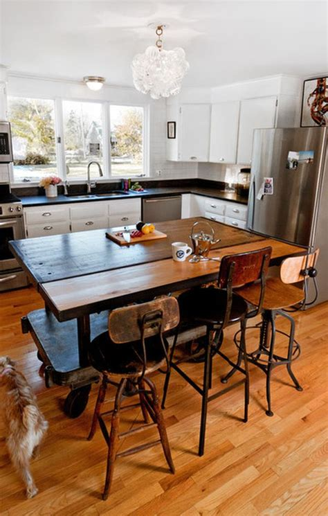 Kitchen Table Island by Portable Kitchen Islands They Make Reconfiguration Easy