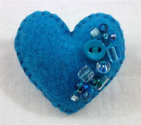 felt hearts 365 sewn hearts beaded wool felt hearts