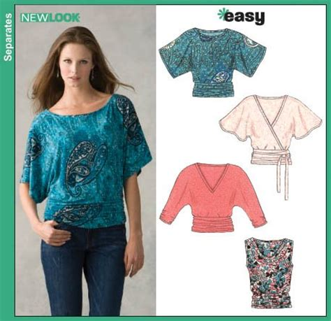 simple pattern top marks new look 6648 misses knit tops