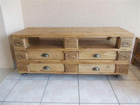 meuble en palette de bois plan mzaol
