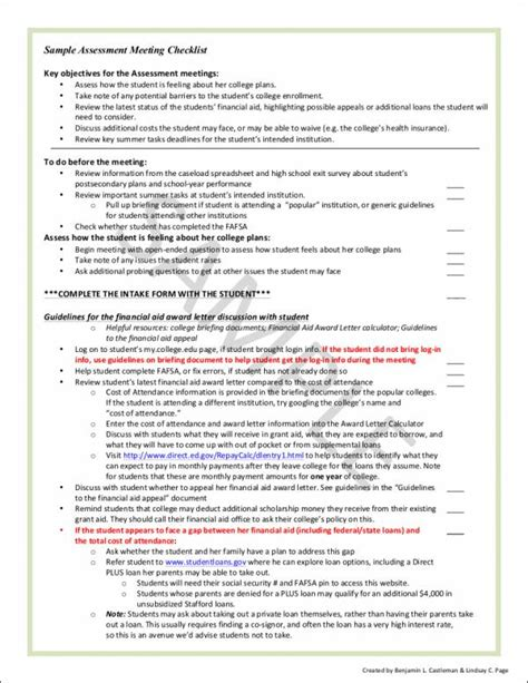 Harvard Mba Application Checklist by 11 Meeting Checklist Sles Templates Free Pdf