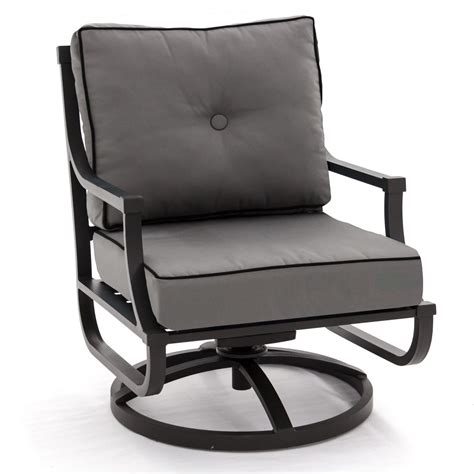 Swivel Rocking Patio Chair Audubon Aluminum Swivel Rocker Patio Club Chair By Lakeview Outdoor Designs Canvas Charcoal